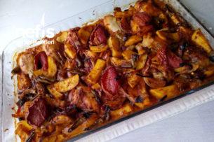 Fırında Tavuk Baget Patatesli Tarifi