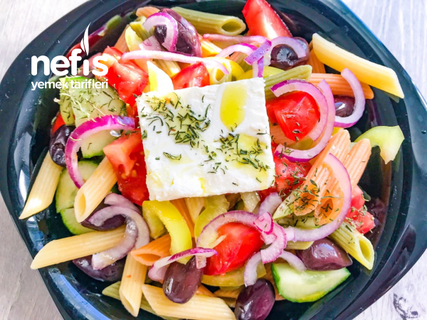 Makarnalı Yunan Salatası