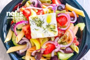 Makarnalı Yunan Salatası Tarifi