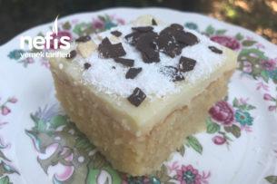 Beyaz Çikolata Soslu Fresh Revani Tarifi