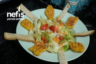 Nugget'lı Salata (Pratik Akşam Öğünü) Tarifi