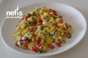 Patatesli Omlet (Gökkuşağı) Tarifi