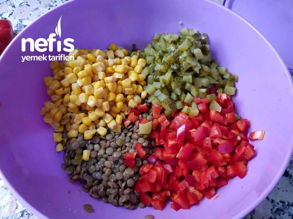 Şehriyeli Mercimek Salatası( Bol Vitaminli)