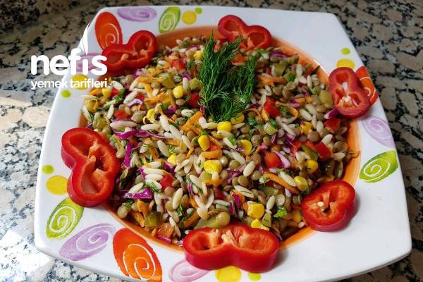 Şehriyeli Mercimek Salatası (Bol Vitaminli)