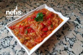 Konserve Köz Patlıcan Salatası Tarifi