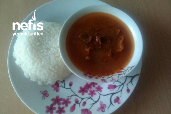 Sade Pirinç Pilavı Yanında Sulu Kızartma (Bayılacaksınız) Tarifi