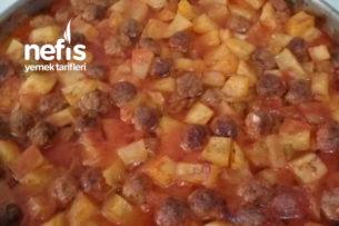 Fırında Misket Köfteli Patates Yemeği Tarifi