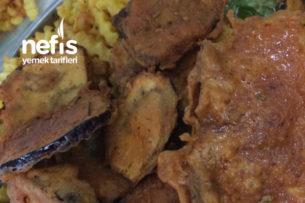 Hamurlu Patlıcan Kızartması (Normalden Az Yağ Çeken) Tarifi