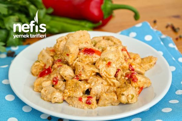 Kremalı Tavuk Sote (videolu) Tarifi