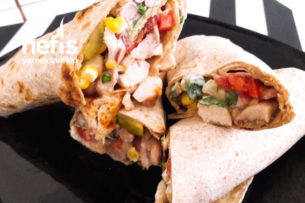 Nefis Yoğurt Soslu Tavuk Dürüm (Tavuk Shawarma) Tarifi