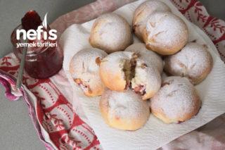 Çilek Marmelatlı Çörek (Poğaça Hamurundan) Tarifi