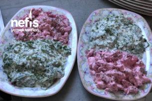 Yoğurtlu Feldsalat Ve Kırmızı Pancar Salatası Tarifi