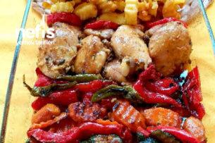Fırında Soslu Sebzeli Tavuk Tarifi