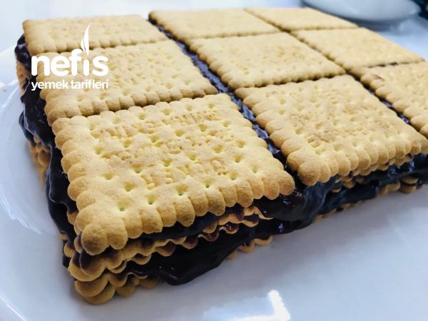 Bisküvili Pasta Ev Yapımı Pudingli