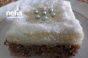 Elmalı Cevizli Muhallebili Pasta Tarifi