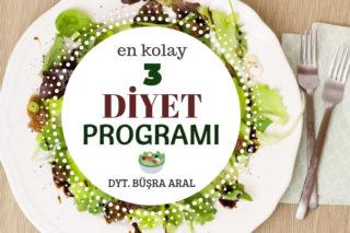 Uygulaması En Kolay 3 Diyet Programı, Diyetisyen Öneriyor Tarifi