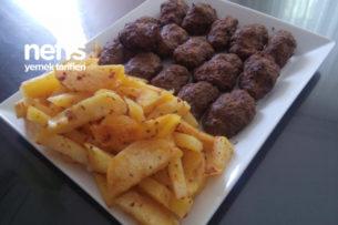 Az Yağlı Fırında Patates Ve Yağsız Köfte Tarifi
