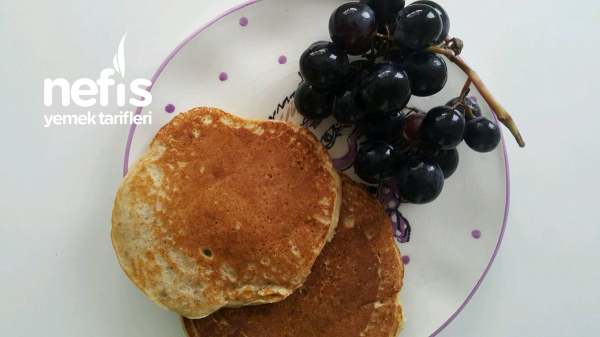 Bebekler İcin Muzlu Cevizli Pancake(+8ay)