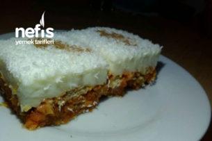 Havuçlu Bisküvi Pastası (Fırınsız, Masrafsız Çok Leziz) Tarifi