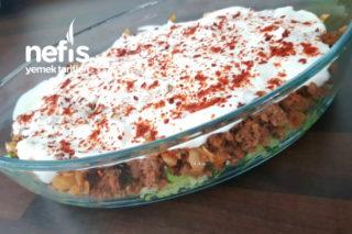Kıymalı-Yoğurtlu Kabak Spagetti Tarifi