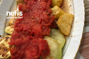 Fırında Soslu Patates-Kabak Tarifi