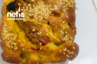 Sucuklu Zeytinli Kek (Tuzlu) Kahvaltılık Tarifi