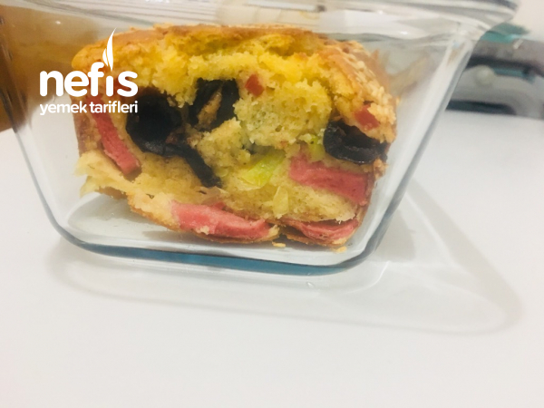 Sucuklu Zeytinli Kek (Tuzlu) Kahvaltılık