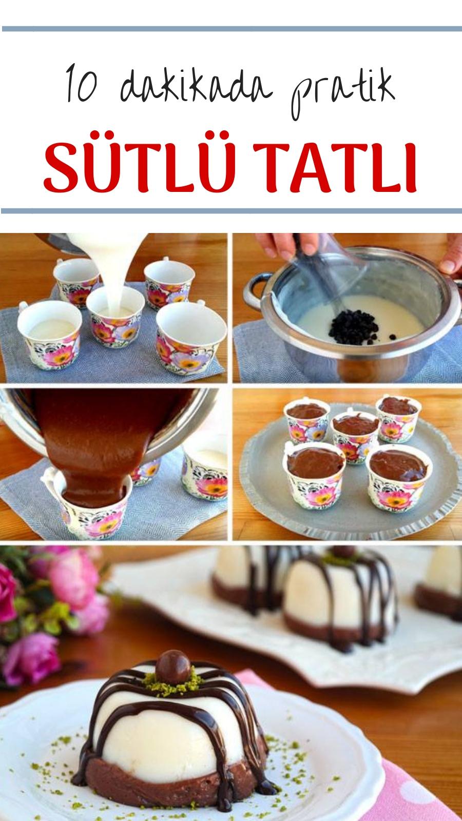 10 dakkada Pratik Çikolatalı Sütlü Tatlı Yapımı