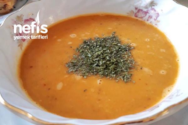 Kavrulmuş Sebzeli Nefis Mercimek Çorbası Tarifi