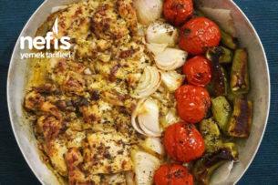 Fırında Kremalı Tavuk Ve Sebze Tarifi