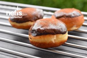 Krema Dolgulu Donut (Yapım Aşamalı) Tarifi