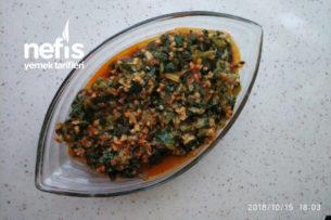 Ispanaklı Bulgur Yemeği Tarifi
