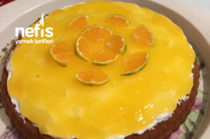 Tart Kalıbında Portakallı Kek Tarifi