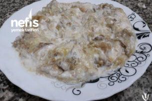 Közlenmiş Patlıcan Salatası(Yoğurtlu) Tarifi