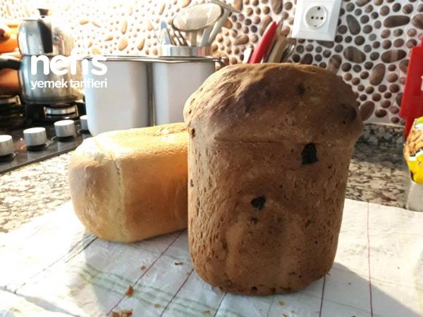 Makinede Zeytinli Çekirdekli Ekmek Yapımı