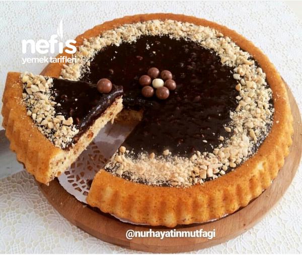 çikolatalı Fındıklı Tart Kek (10 Dakikada Enfess Lezzet)