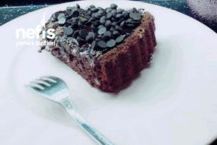Karamelli Çikolata Soslu Tart Kek Tarifi