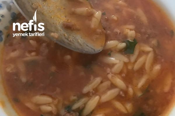 Kıymalı Erişte Çorbası Tarifi