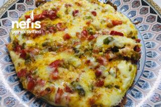 Pizza Görünümlü Omlet Tarifi
