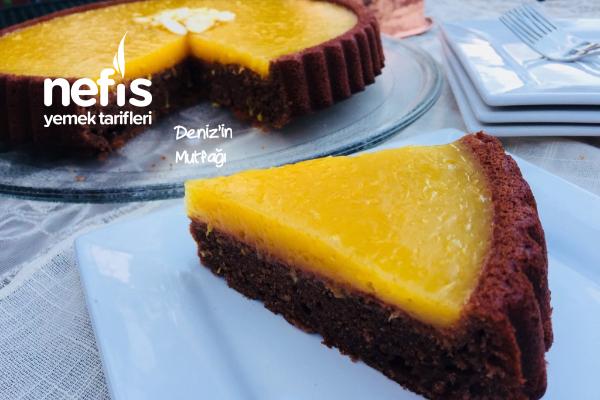 Portakallı Kakaolu Tart Kek Tarifi