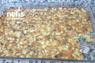 Patatesli Havuclu Ispanaklı Yeşil Soğanlı Tuzlu Kek Tarifi
