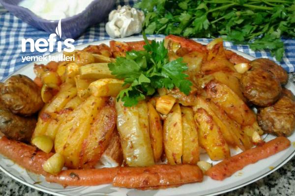 Fırında Sebze Kebabı