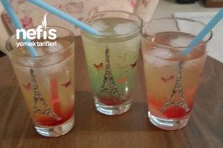 Kafe Tarzı 3 Renkli Hindistan Cevizli Ananaslı Kokteyl Tarifi