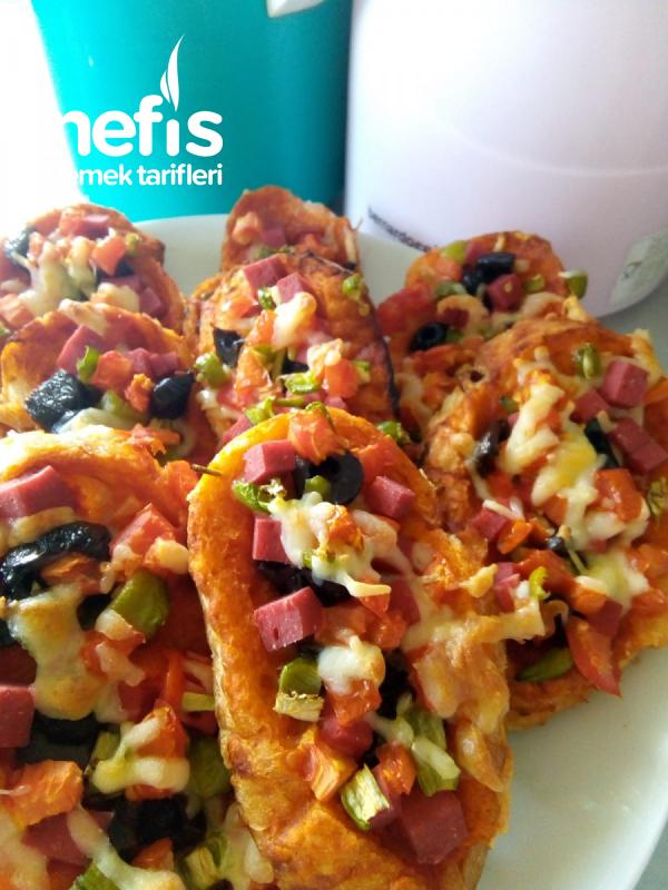 Pratik Enfes Pizza (dilim Ekmekten)
