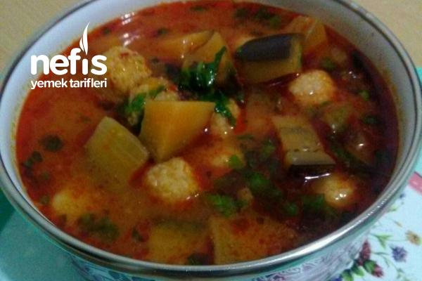 Patlıcanlı Yalancı Köfte (Elazığ Yemeği) Ekşili, Nefis Tarifi