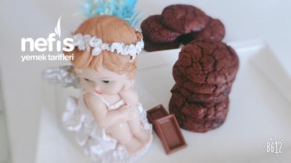 American Double Chocolate Cookies (orjinal Bol Çikolatalı Amerikan Kurabiyesi)