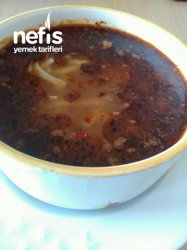 Yeşil Mercimek Çorbası ( Sebzeli, Erişteli )