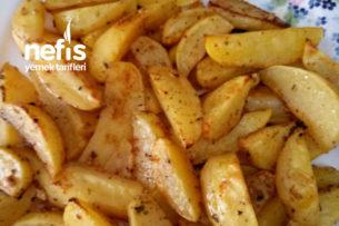Fırında Soslu Elma Dilim Patates Tarifi