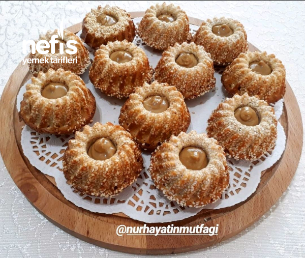 Tahinli Susamlı Mini Kek (bomba Lezzet