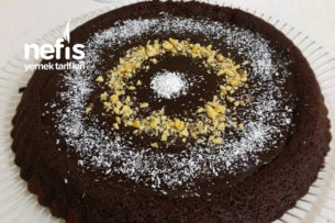 Tart Kalıbında Çikolata Soslu Islak Kek Tarifi